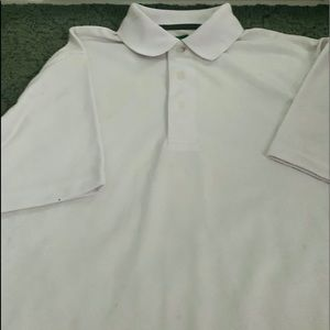 Men's Ben Hogan white polo shirt size med NWOT